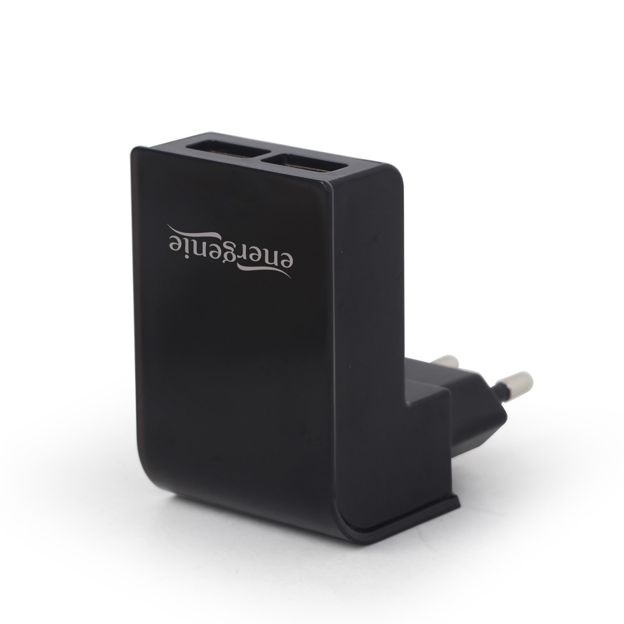 Energenie Universele USB lader, 2X USB, 2.1A, zwart