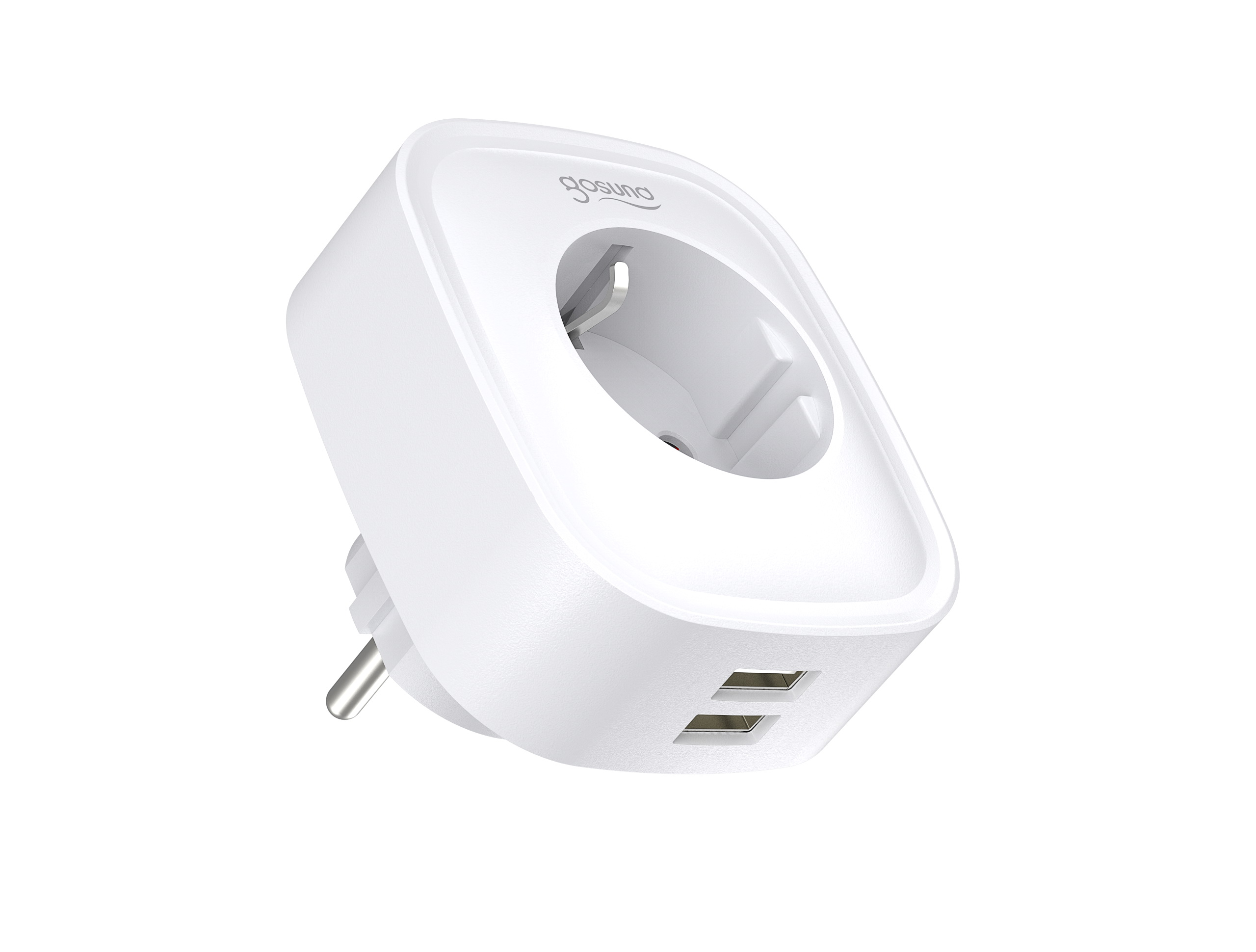 Gosund SP112 smart stopcontact enkel + 2 x USB, met schakelaar, Allexa, Google Home and IFTTT compatible