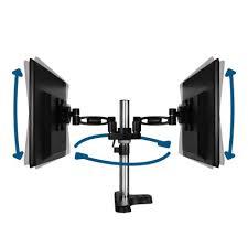 Verstelbare bureau arm voor 2 monitoren 13 - 27 inch 10kg ARCTIC Z2 Pro Gen 3 black 4x USB 3.0