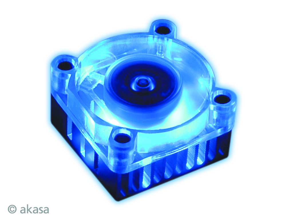 Akasa Chipset cooler with 4cm black fan and double sided thermal bonding tape