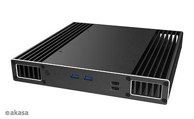 Akasa Plato PX, Slim fanless case for 8th Generation Intel NUC i3/i3/i7 boards (Provo Canyon)