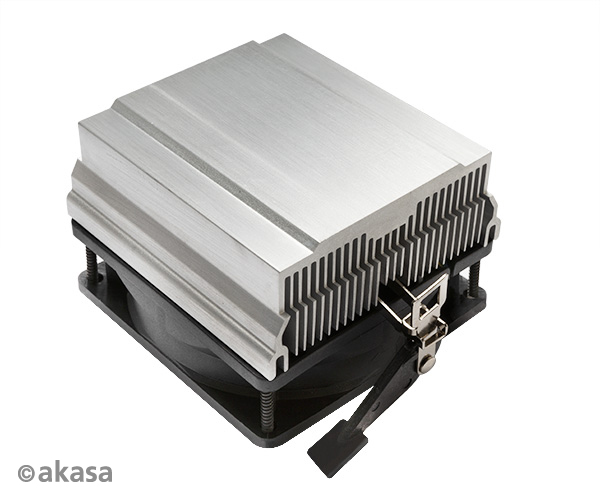 Akasa Aluminium Heatsink with AM2 retention clips and Lo Noise round 80mm PWM fan