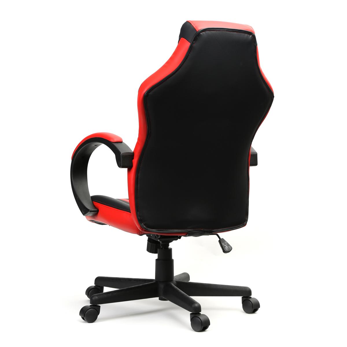 VARR gaming chair SLIDE, zwart met rood - PU + PVC, 5x 5cm nylon wielen, tilt lock, 15 graden, 13,5 kg