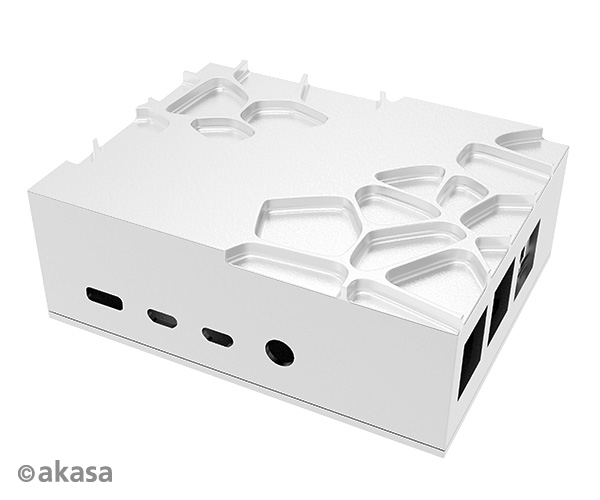 Akasa Gem Pro, Raspberry Pi 4 Model B forged aluminium case with thermal kit, Full I/O opening