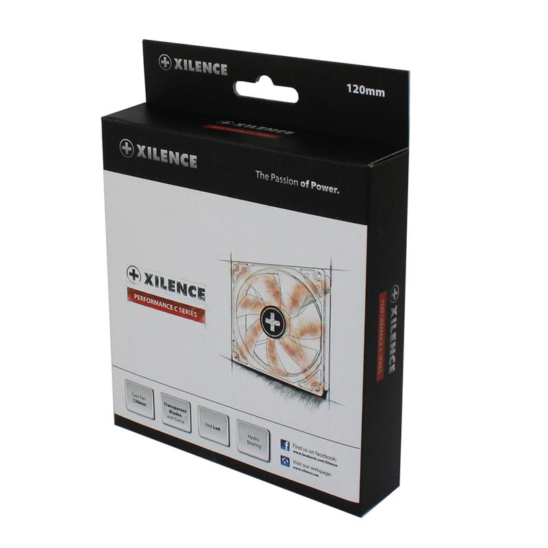 XILENCE Performance C case fan 120 mm, transparent red LED // XPF120.TR