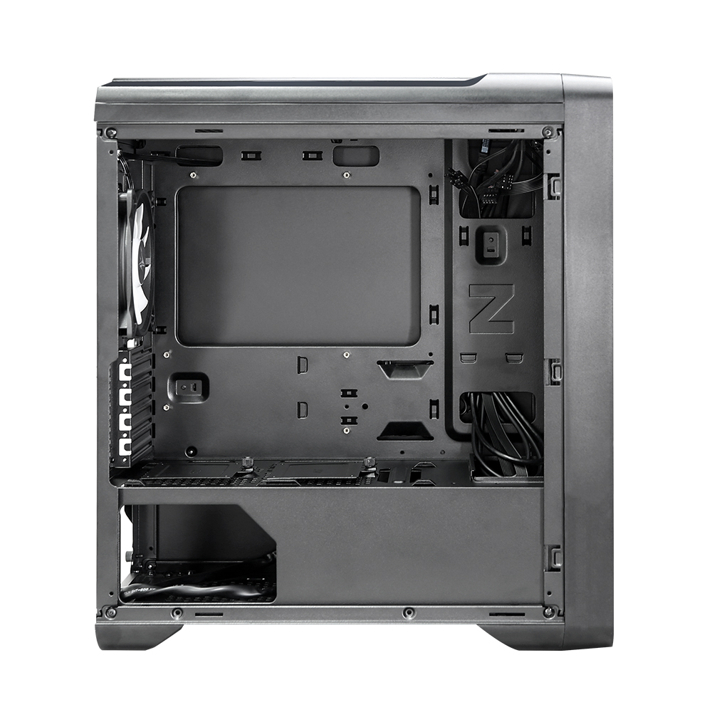 Zalman M3 Plus RGB, mATX Mid-Tower Case, Pre-installed fan: 3x 120mm RGB (Front), 1x 120mm White LED(Rear), Mesh front panel for optimized air ventilation, Support 240mm AIO Water Cooler (Front, Top), Push and Pull Type Dust Filter (Top), Tempered Glass