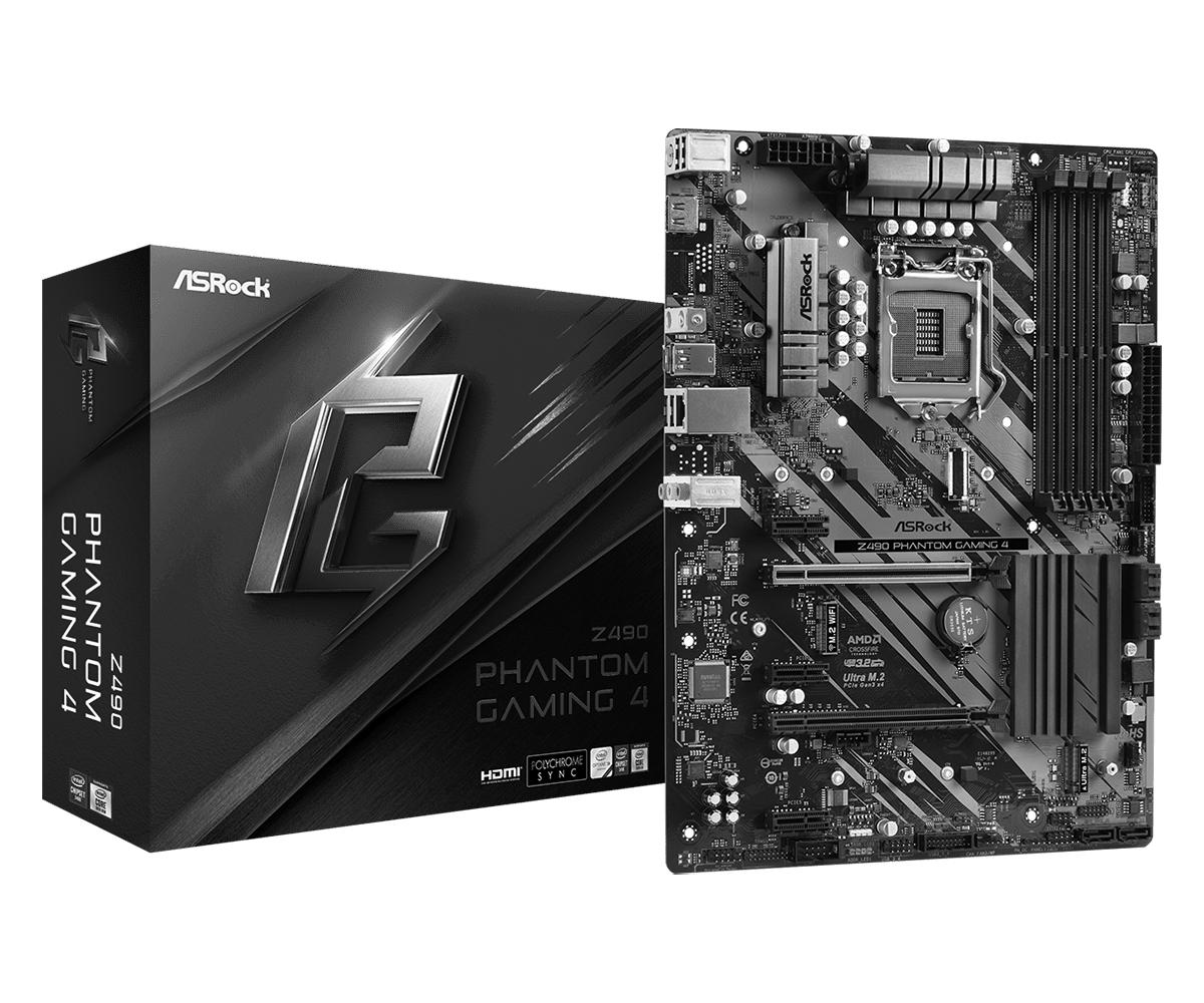 ASRock Z490 Phantom Gaming 4 - Motherboard - ATX - LGA1200-Sockel - Z490 //