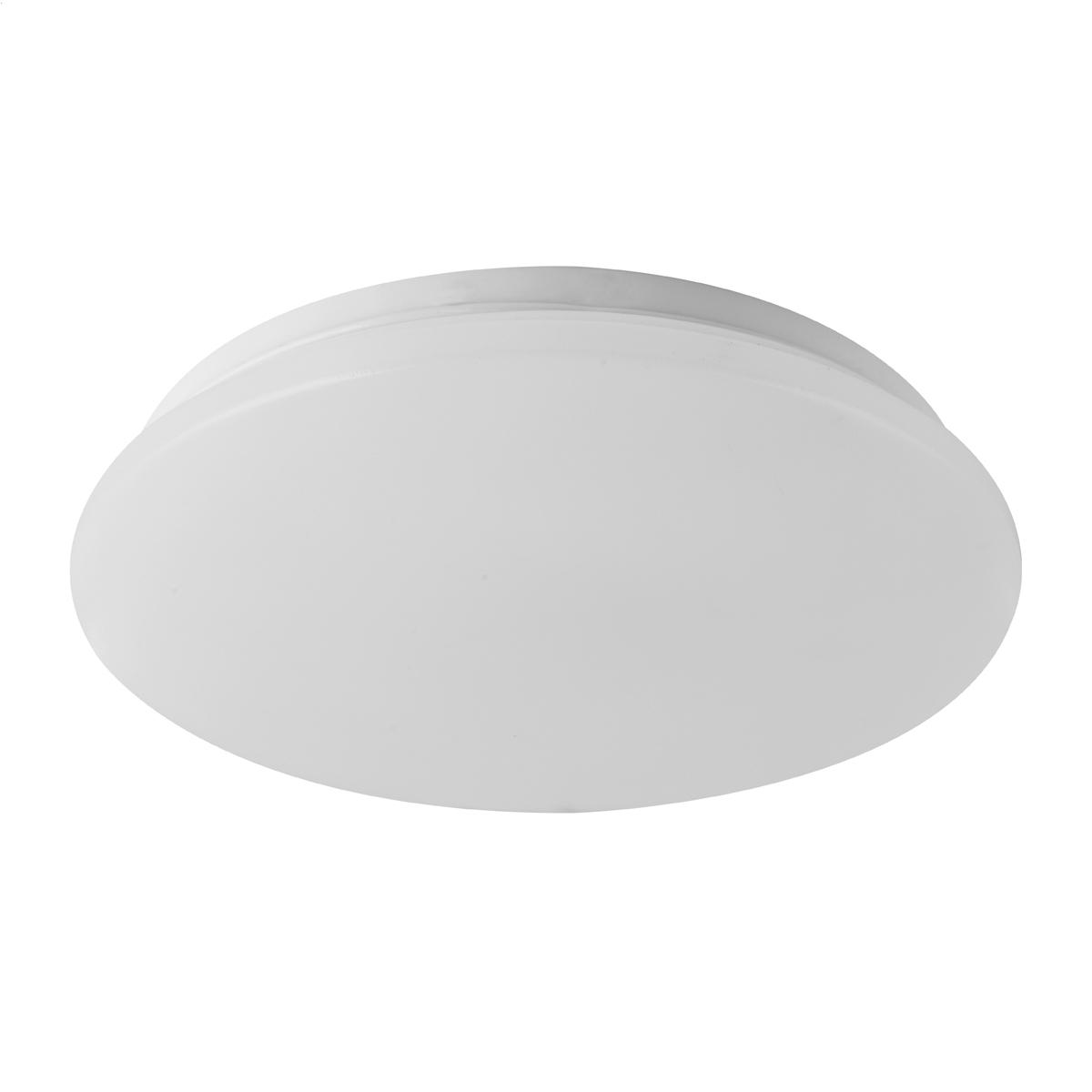 Platinet plafond lamp / plafonniere, 18W, 3000K, frosted, 260mm doorsnede, 1260lumen