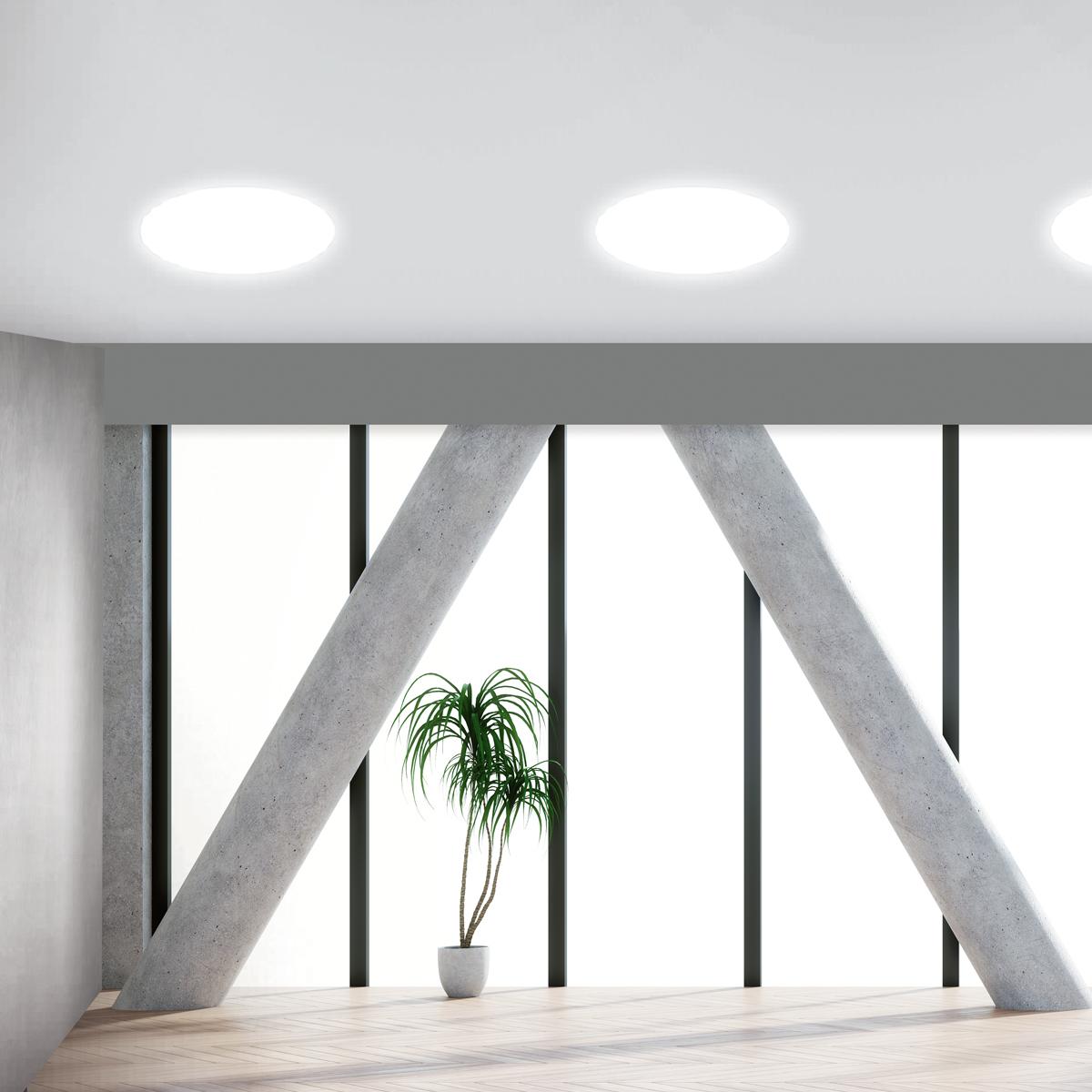 Platinet plafond lamp / plafonniere, 24W, 4000K, wit, ???mm doorsnede, ???lumen