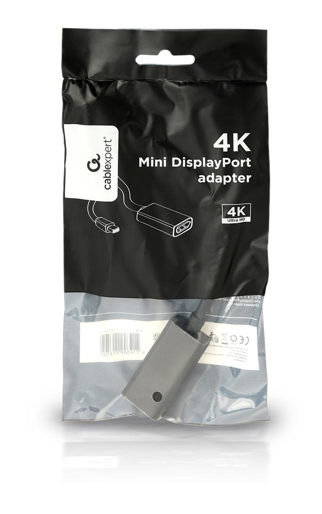 Gembird 4K Mini DisplayPort adapterkabel, 15 cm, zwart, *MDPM, *DPF
