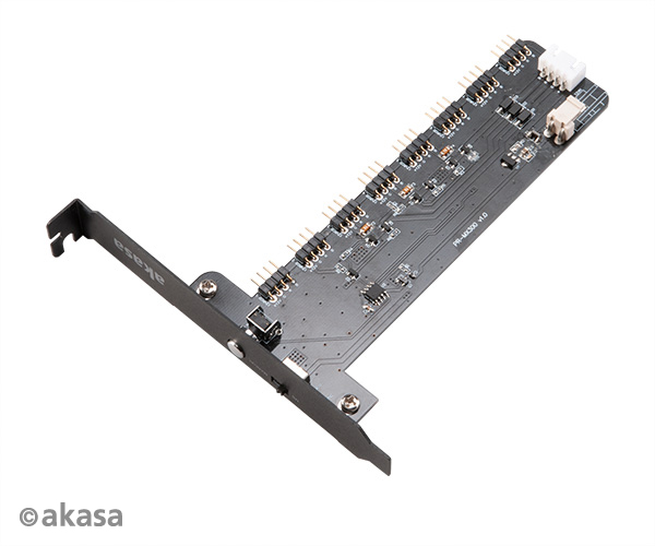 Akasa Vegas RGB Controller Card XL, 8 Channels | Dual-Mode Manual & MB Sync Control