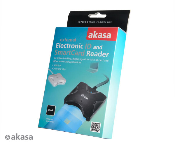 Akasa Extreme USB SMART and Electronic ID card reader