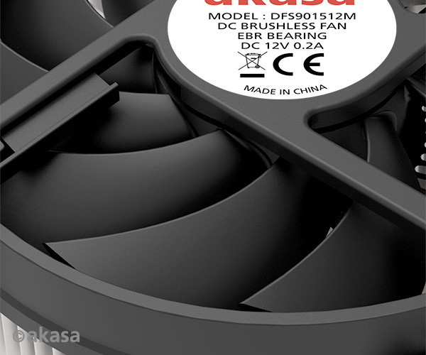 Akasa CPU Cooler Intel LGA 115X, Low profile optimised & screwbackplate for Mini-ITX and HTPC cases, 65W TDP
