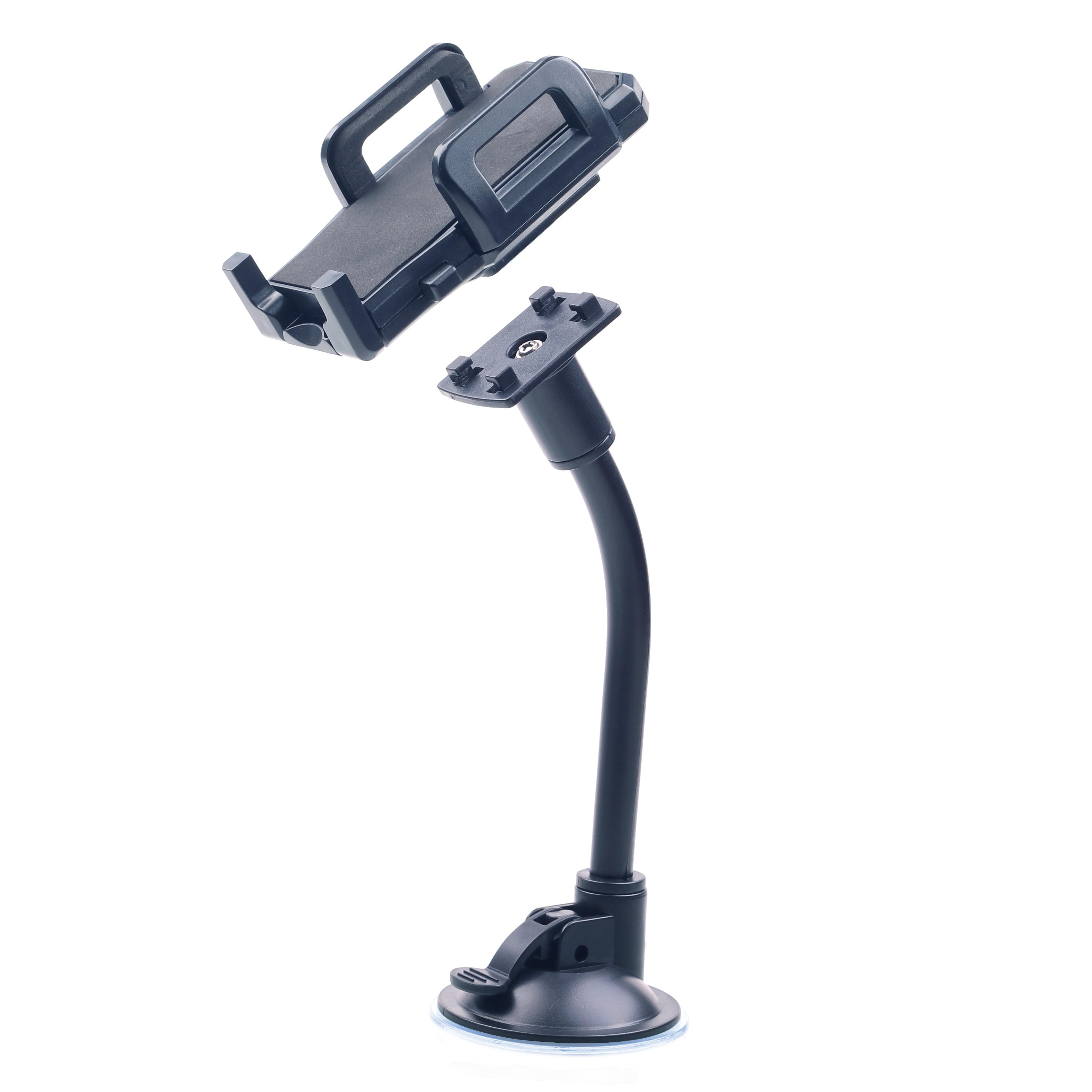 Gembird Autohouder voor smartphones, Universeel - Geschikt voor bijna alle smartphone, zuignap, lange flexibele nek