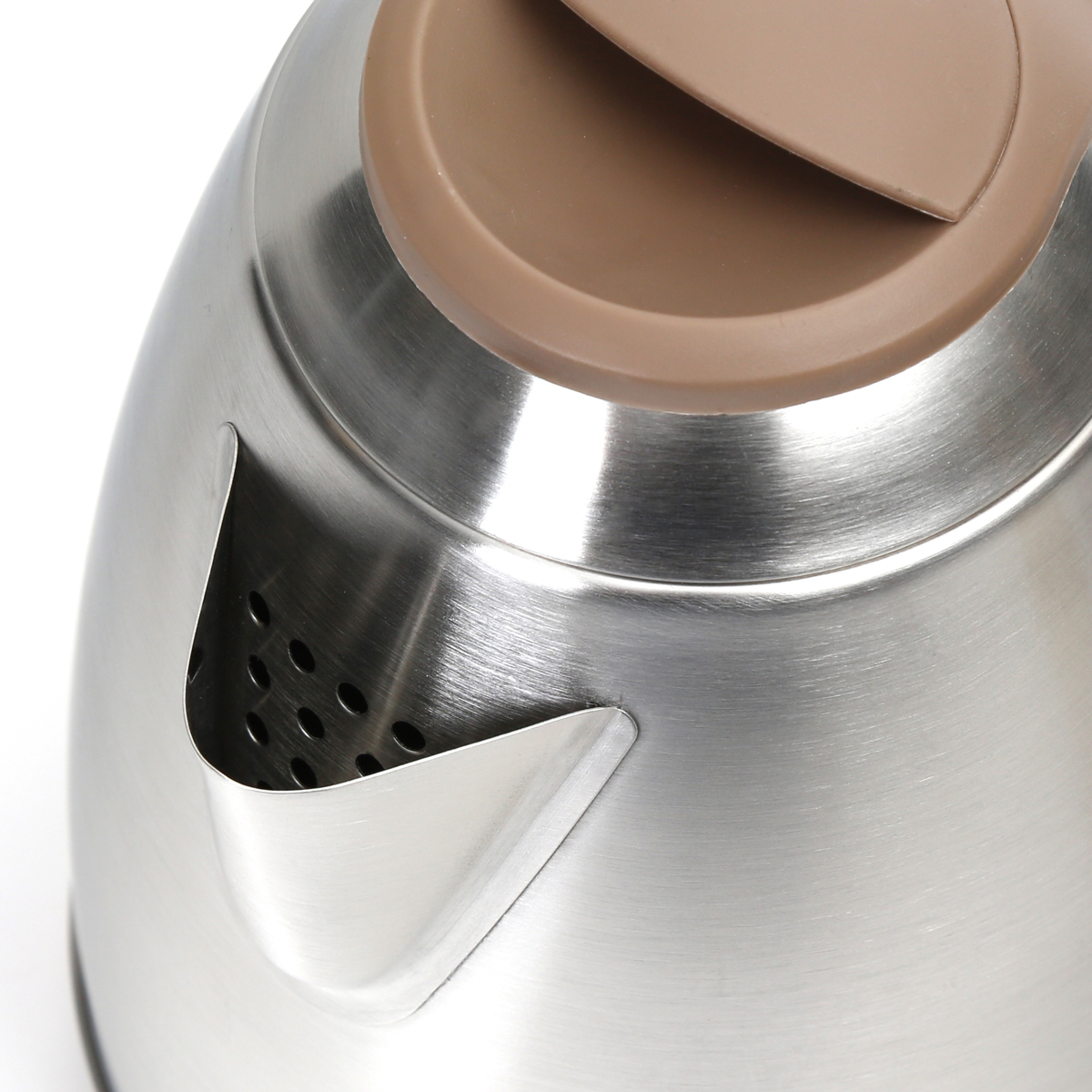 ELECTRIC KETTLE 1500W STAINLESS STEEL BRUSHED FINISH WHITE/BEIGE
