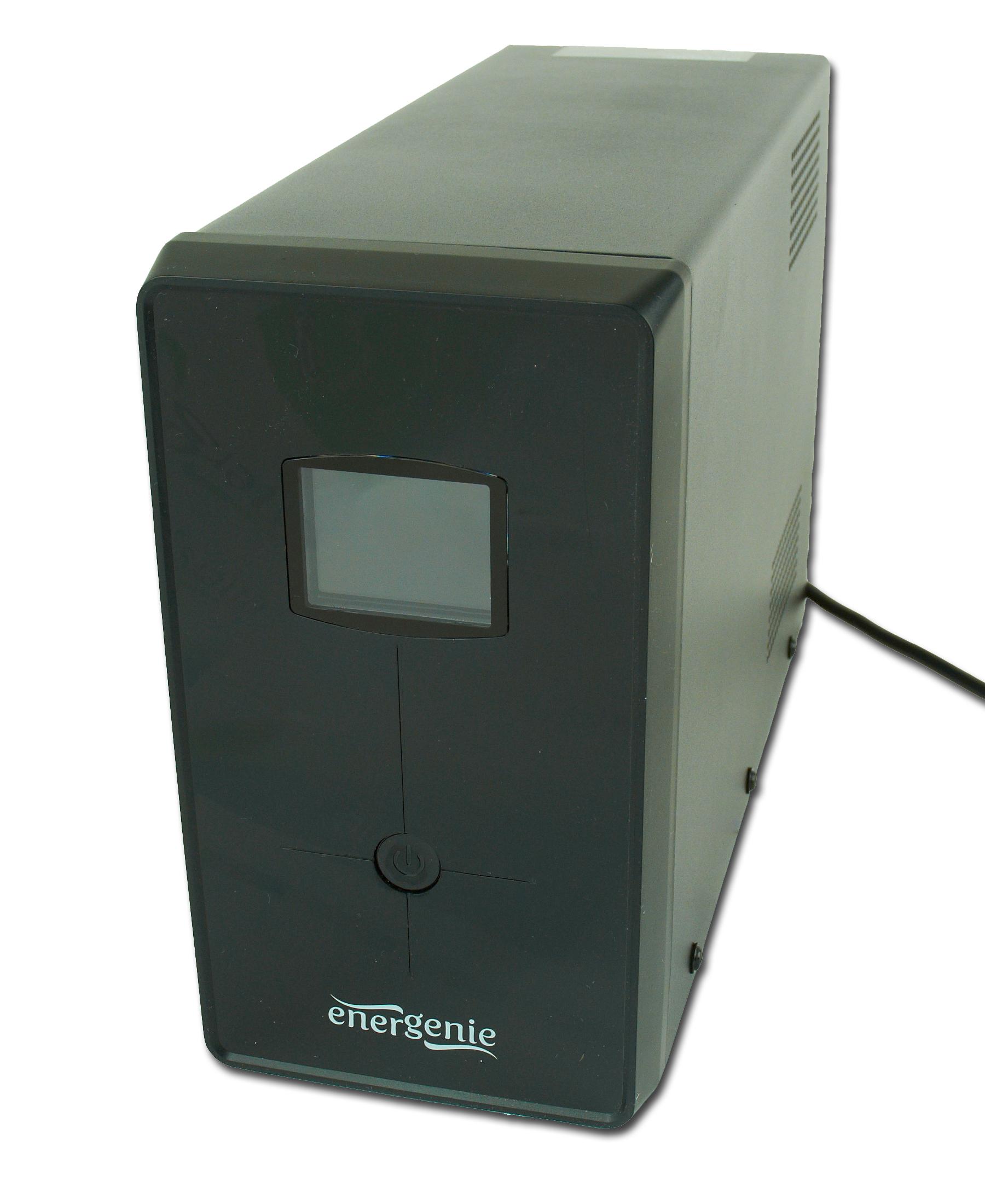 Energenie UPS / noodstroomvoeding met LCD, 1200 VA