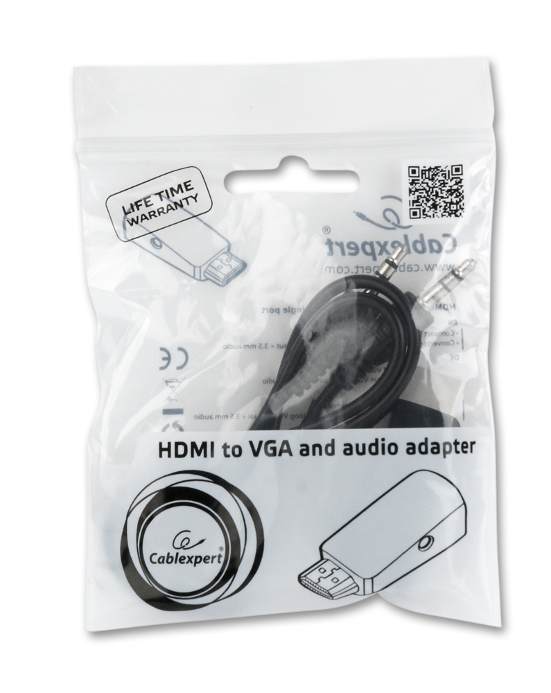 Gembird HDMI naar VGA adapter met audio