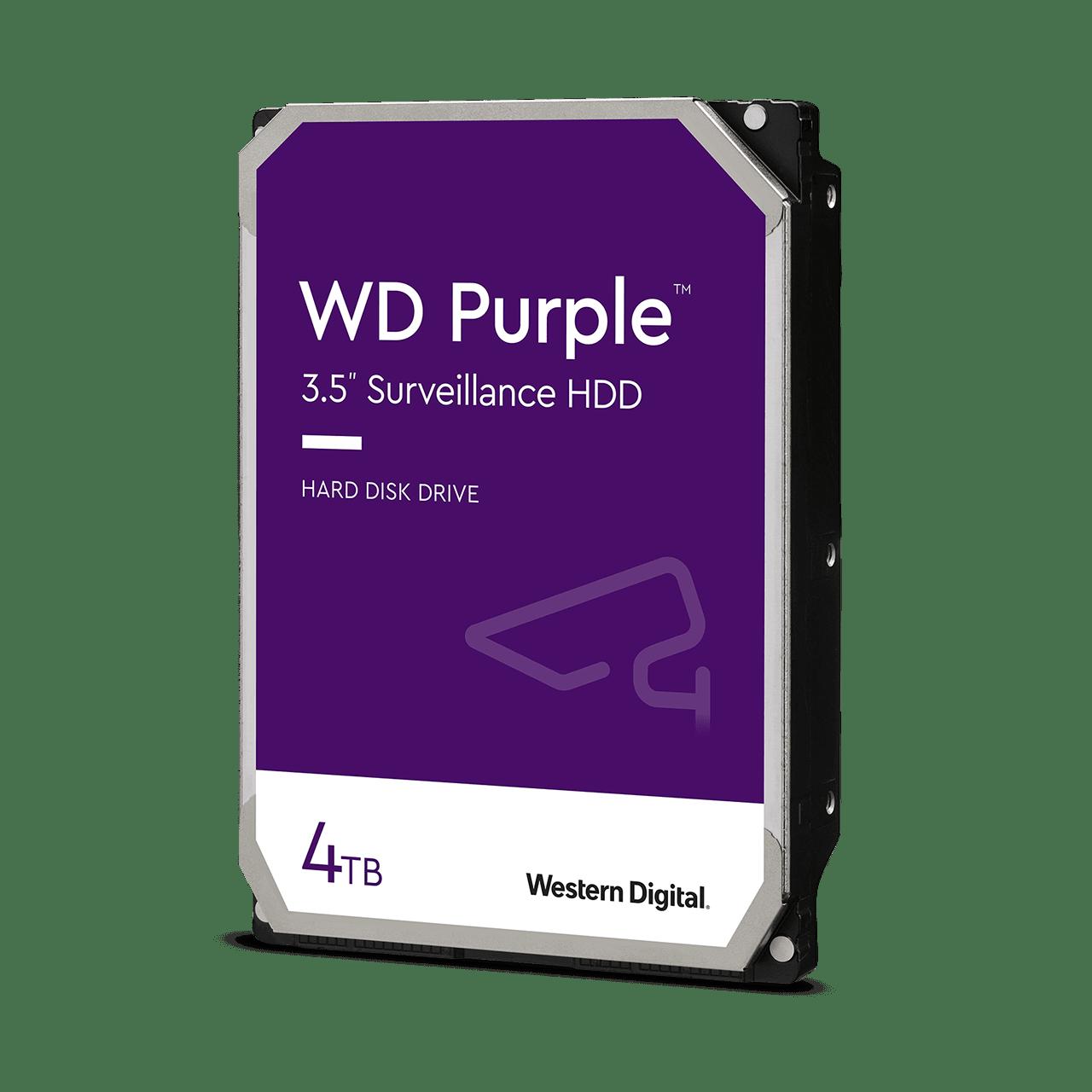 Western Digital WD40PURZ Purple Surveillance HDD, 4TB, 3.5 inch, SATA3 6Gbps,5400 RPM, 64 MB, 210 MiB/s