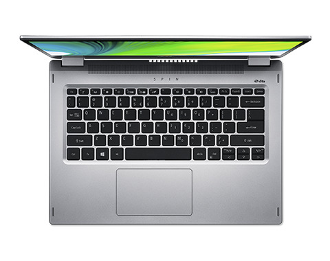 Acer Spin 3 SP314-21-R07J, Laptop, Draaibaar design, 14 Full HD aanraakscherm, AMD Ryzen 3-3250U (2.6 GHz), 8 GB RAM, 512 GB SSD NVMe