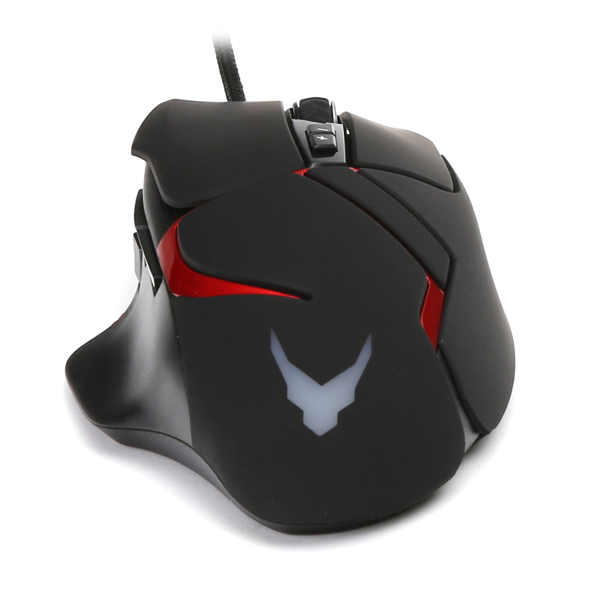 Varr VGM0360 Gaming mouse, rechtshandig, 1,7m braided USB kabel, 1200-1600-2000-3200 dpi instelbaar, 138gram
