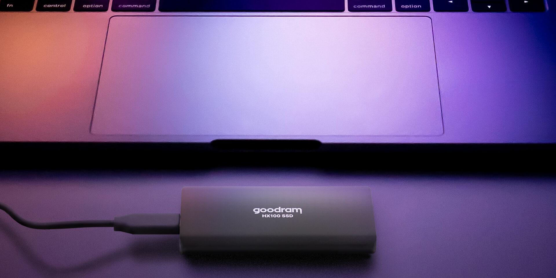 GOODRAM SSD HX100 1 TB USB 3.2 RETAIL External SSD, 1 TB + kabel USB TYPE-C 3.2 Gen2 (internal SATA 6 GBBS) ---