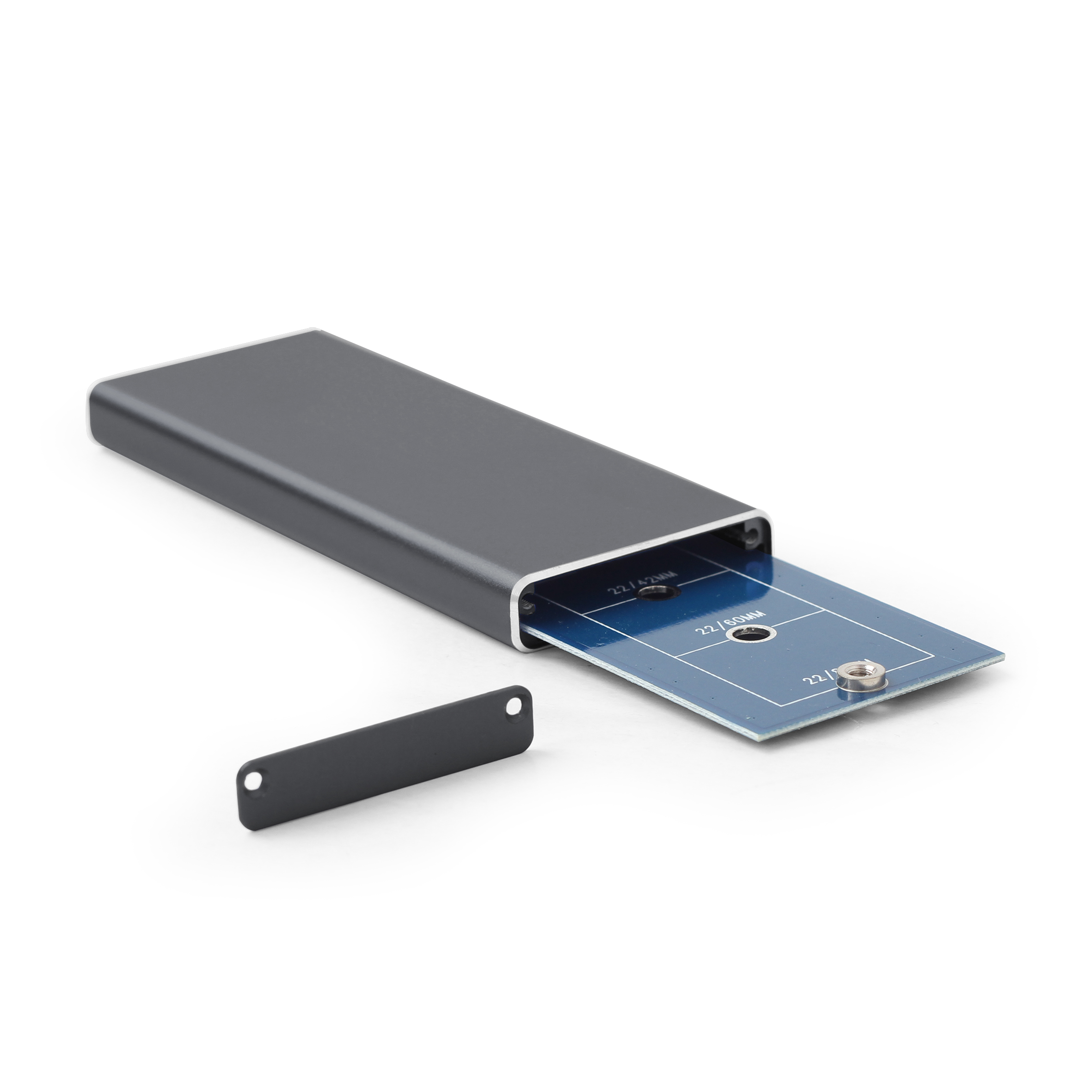 Gembird externe behuizing voor M.2 drives, USB 3.0, zwart, Supports M.2 of 22 mm wide drives (2230, 2242, 2260, 2280), JMS578 of AMS225