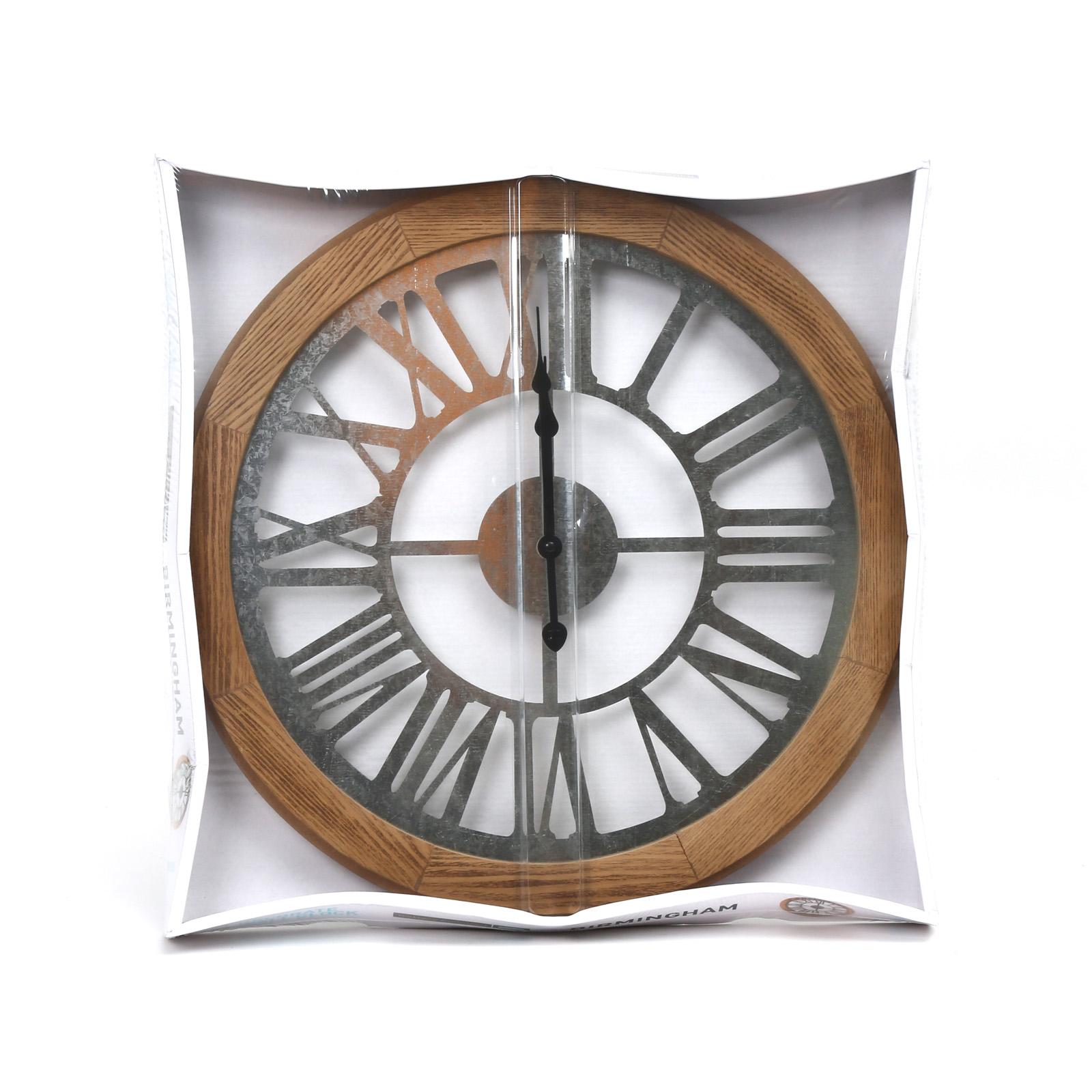 Platinet wand klok - Birmingham - 50 x 50 x 4,50 cm