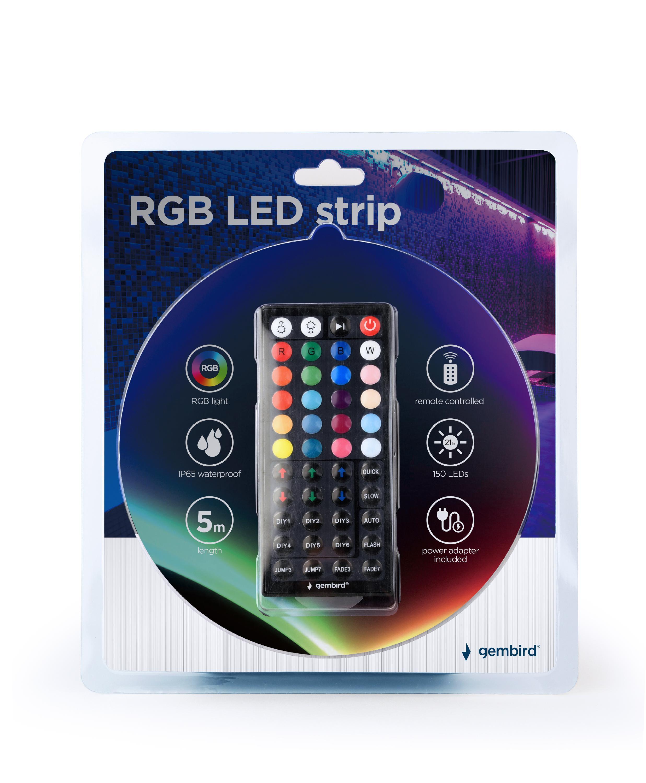 Gembird RGB LED-strip, 5 m