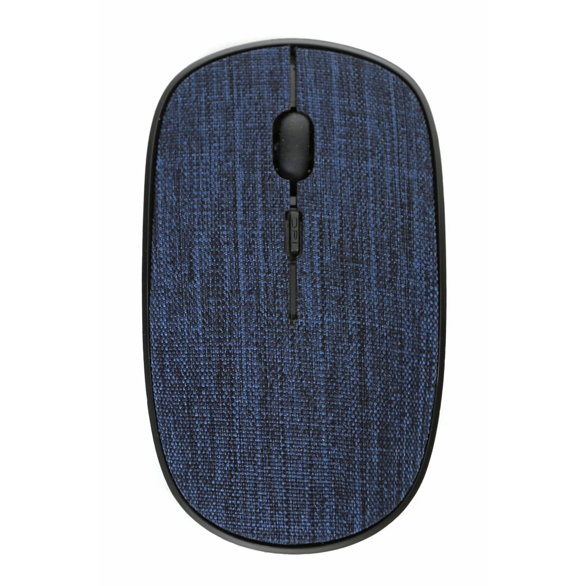 Omega wireless muis met blauwe stoffen bekleding, 2.4 GHz receiver, 1000/1200/1600DPI instelbaar