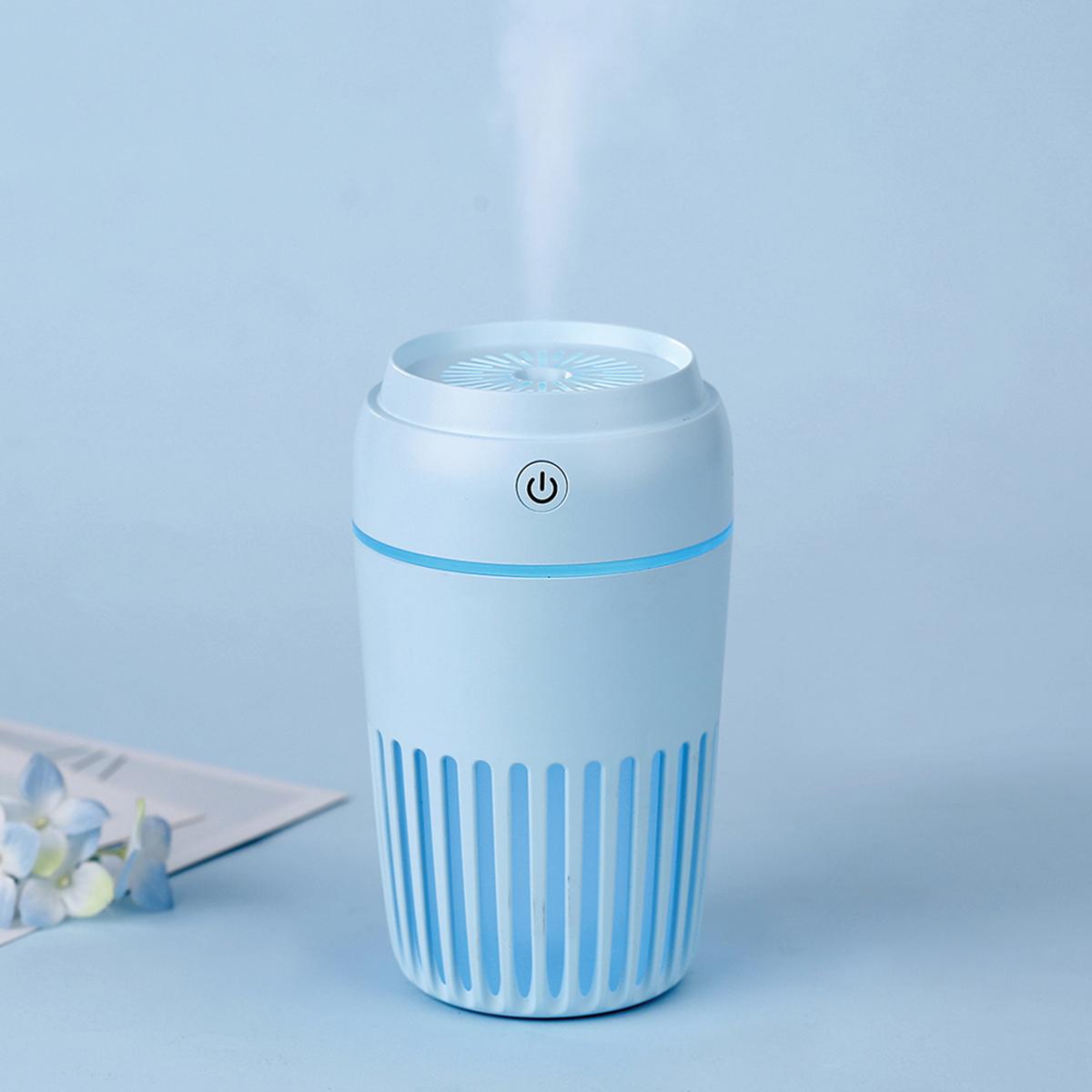 Platinet - Misty - lucht bevochtiger 300ml, LED lamp, timer, werkt ook met geur olie, blauw