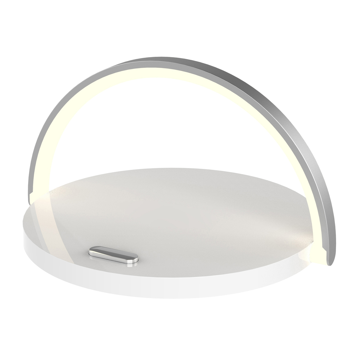 Platinet LED lamp met 10W QI wireless charger met 2A 1,2M USB-Ckabel