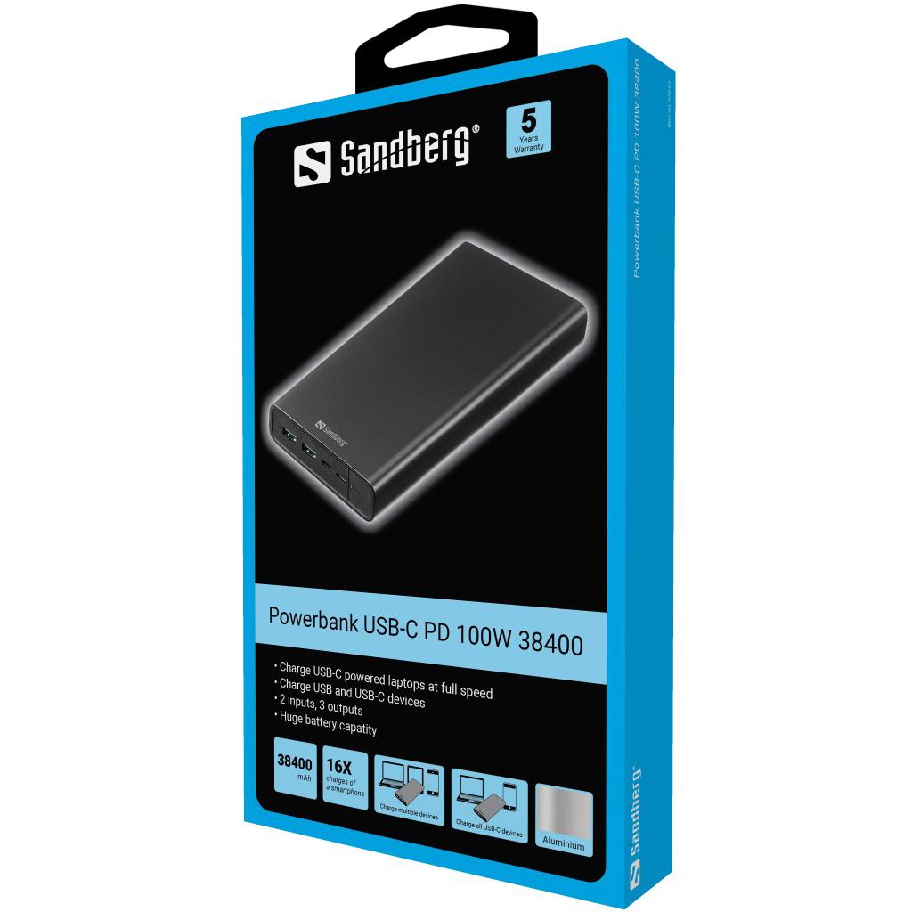 Sandberg Powerbank USB-C PD 100W 38400