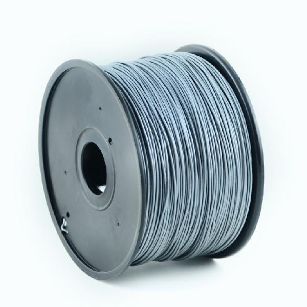 Gembird ABS plastic filament for 3D printers, 3 mm diameter, silver