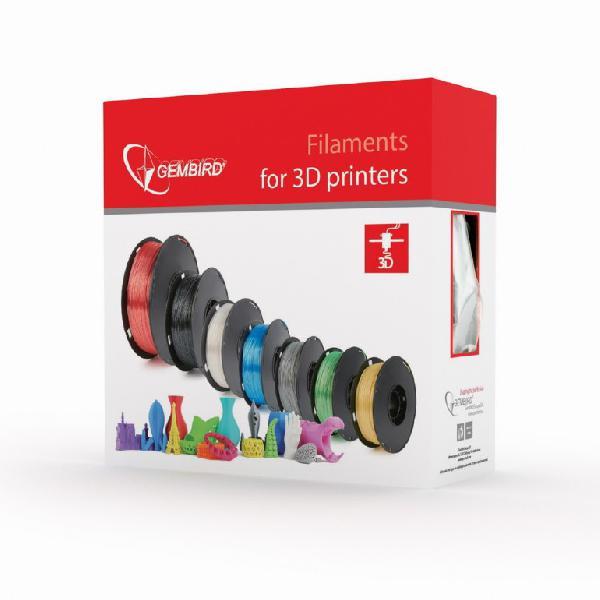 Gembird PLA plastic filament for 3D printers, 1.75 mm diameter, natural