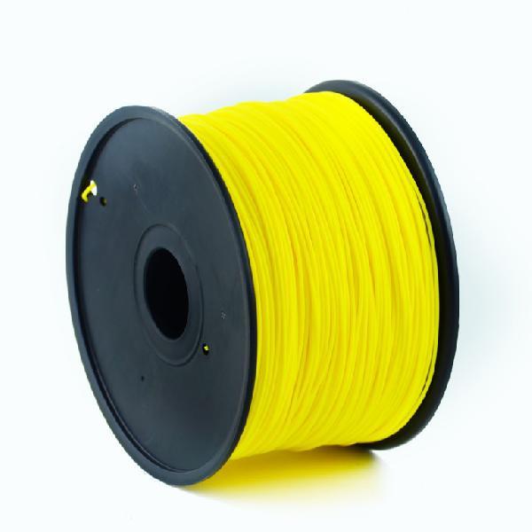 Gembird PLA plastic filament for 3D printers, 3 mm diameter, yellow