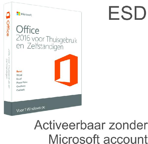Microsoft Office 2016 Home and Business, 1 User OEM (Word, Excel, Powerpoint, Outlook) - ESD, activeren binnen 1 maand