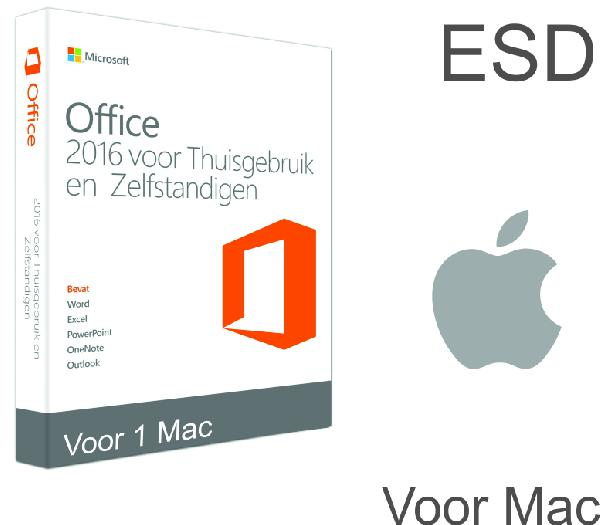 Microsoft Office Home and Business 2016 Mac:, 1 User OEM (Word, Excel, Powerpoint, Outlook) - ESD
