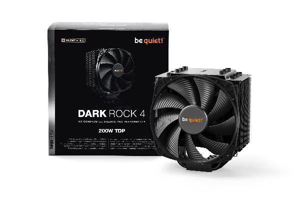 be quiet! Dark Rock 4, 200W TDP, Intel: 1150/1151/1155/1156/1366/2011/2066 AMD: AM2 (+) / AM3 (+) / FM1 / FM2