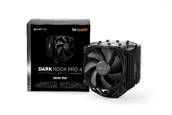 be quiet! CPU Cooler Dark Rock Pro 4, 250W TDP, Intel: 1150/1151/1155/1156/1366/2011/2066 AMD: AM2 (+) / AM3 (+) / FM1 / FM2