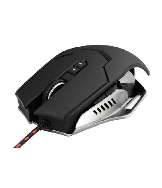 Omega VARR Gaming Mouse OM-264, metal with anti -sweating coating, Gaming class sensor and adjustable 1000 - 7000 dpi
