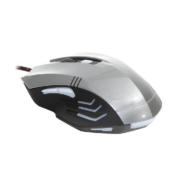 VARR OM-267 6 knops Gaming mouse 1200-1600-2400-3200DPI 6D grijs/zwart met anti-zweet coating