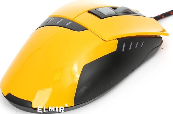 MOUSE OMEGA VARR OM-270 GAMING 1200-1600-2400-3200DPI YELLOW [41785