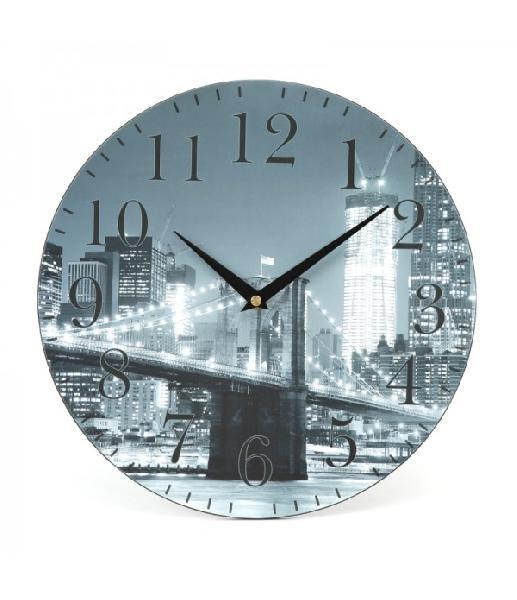 PLATINET WALL CLOCK/CITY