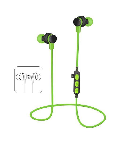 Platinet In-Ear Earphones Bluetooth V4.2 + microSD + MIC - model 1061 - Groen
