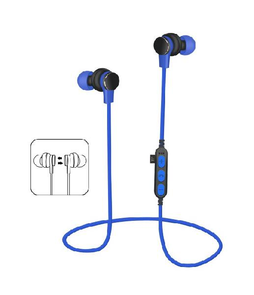 Platinet In-Ear Earphones Bluetooth V4.2 + microSD + MIC - model 1061 - Blue