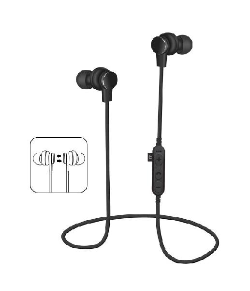 Platinet In-Ear Earphones Bluetooth V4.2 + microSD + MIC - model 1061 - Black