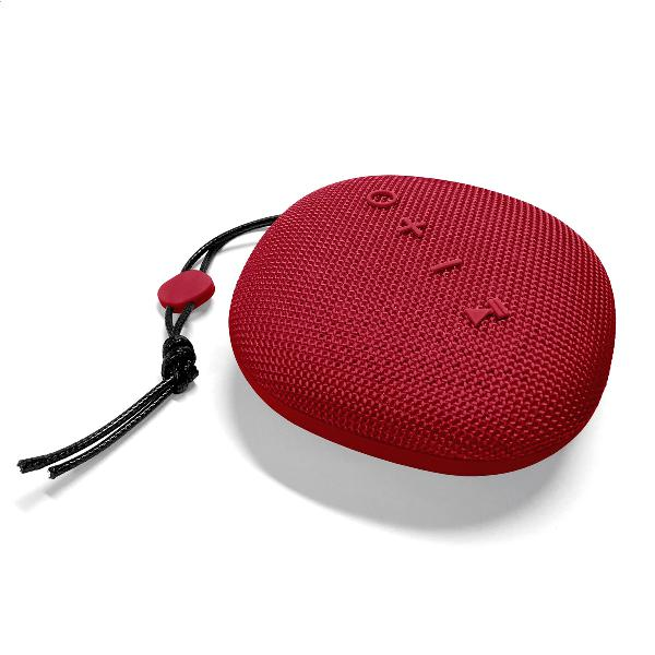Platinet Outdoor wireless Speaker IPX5 waterproof, 6W, cardreader + Bluetooth v5 + EDR, 1500mAh accu, 243g, ROOD