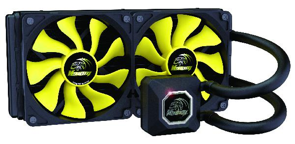 Akasa Venom A20 High Performance 240mm All in one Liquid Cooler with award winning PWM Viper fans.
