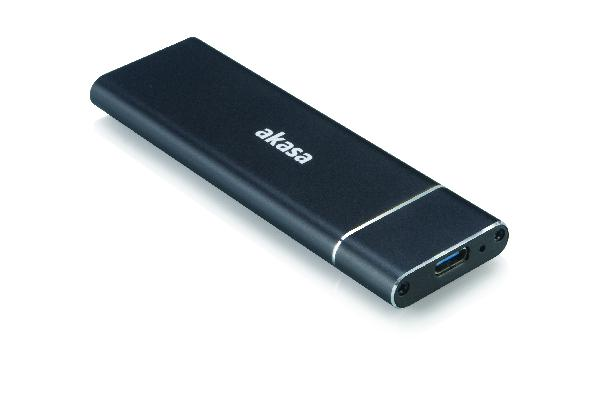 Akasa USB 3.1 Gen2 Superspeed+ , up to 10Gb/s Ali Enclosure for M.2 (NGFF) SSD (Supports 2230, 2242, 2260 & 2280)