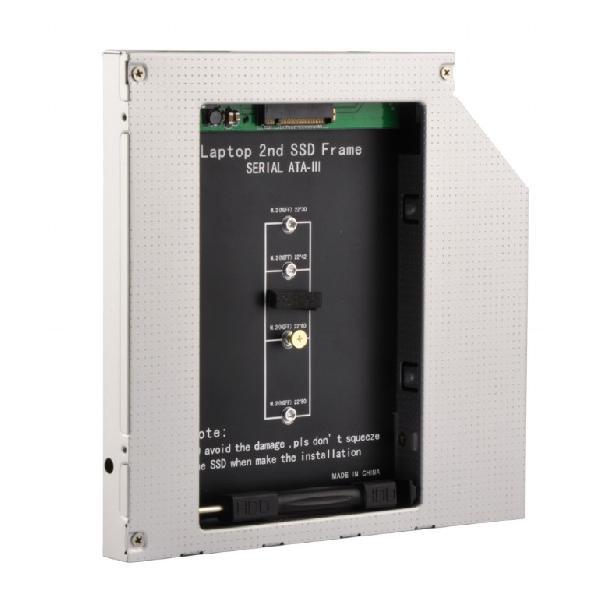 Gembird montageframe voor NGFF (M.2) SSD geheugenkaart in een 5.25inch ODD SATA slim bay, 9.5mm